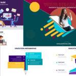 Presentación para Educación en línea con Infografías| Plantilla de PowerPoint
