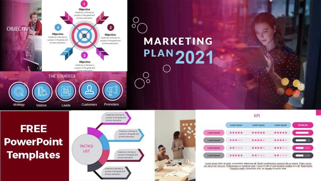 Previsualización de Plantillas de PowerPoint - Plan de Marketing 2021