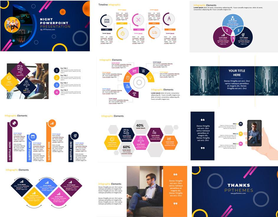 Presentación Noche   Plantillas de PowerPoint