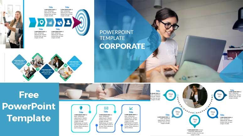 Pantallazo Plantillas de PowerPoint Gratis corporativa