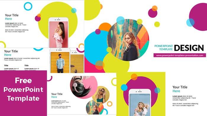 Pantallazo de Plantillas de PowerPoint Gratis circulos coloridos