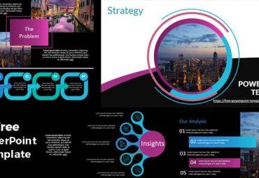 Pantallazo plantilla de powerpoint gratis estrategia de negocios