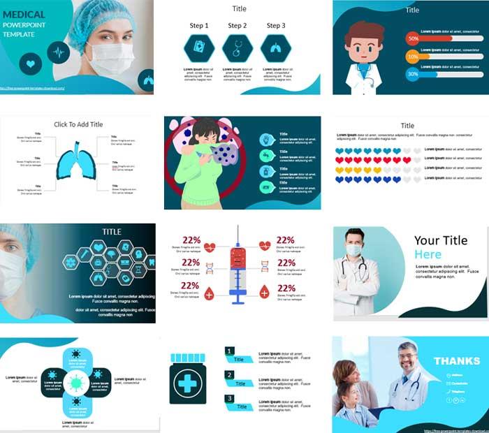 Pantallazos Medicina y formas plantillas de powerpoint