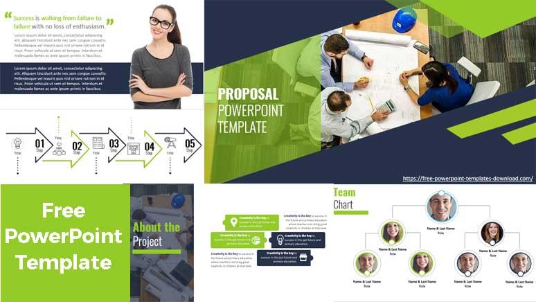 Pantallazos Plantillas de PowerPoint Gratis Propuesta de negocios