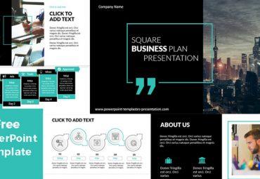 Pantallazos de Plantillas de PowerPoint Gratis - Rectangulo negocios