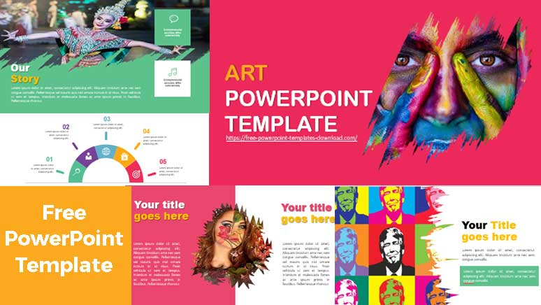 Pantallazos plantillas de powerpoint gratis sobre arte