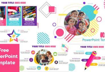 Plantilla de PowerPoint Moderna para niños