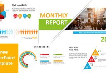 Plantilla de PowerPoint Reporte Anual 2020