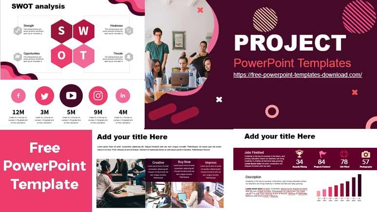 Plantilla de powerpoint para proyectos pantallazos