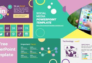 Plantilla de powerpoint redes sociales pantallazos