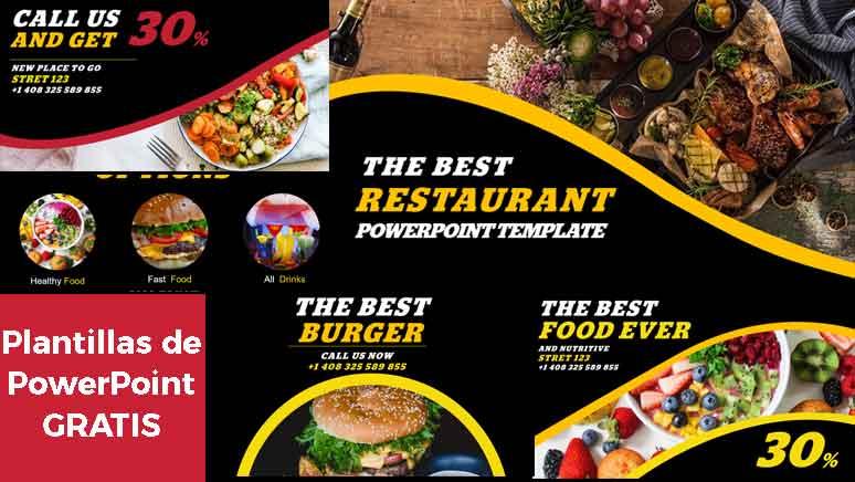 Pantallazo de Plantillas de PowerPoint Gratis para restaurantes