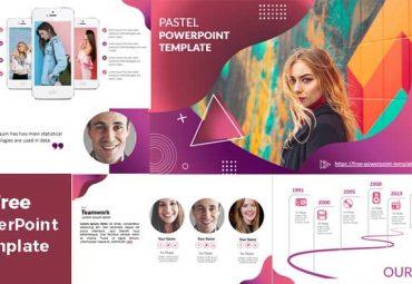 Plantillas de PowerPoint Pastel