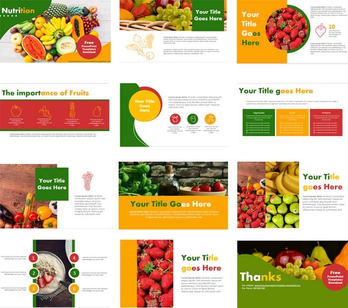 Pantllazos Plantillas de PowerPoint sobre nutricion