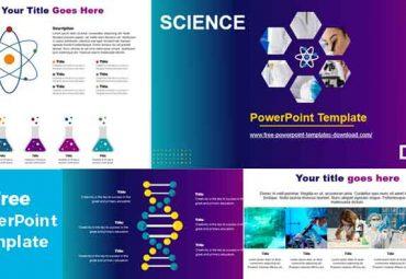 adn y ciencia plantilla de powerpoint
