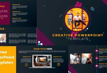 Plantilla de PowerPoint con portada Creativa