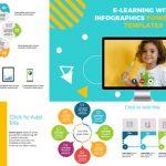 Plantillas de PowerPoint - E-learning con infografías