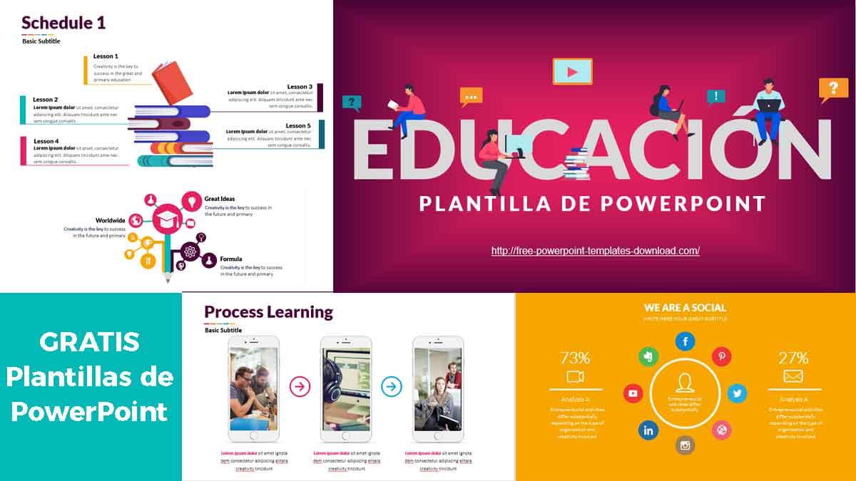 Previsualización de Plantillas de PowerPoint Gratis para Lecciones