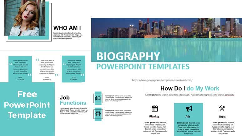 pantallazos plantilla de powerpoint para biografia y estilo