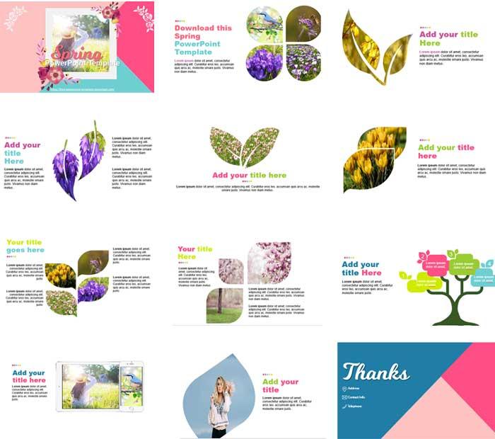 plantillas de PowerPoint gratis primavera