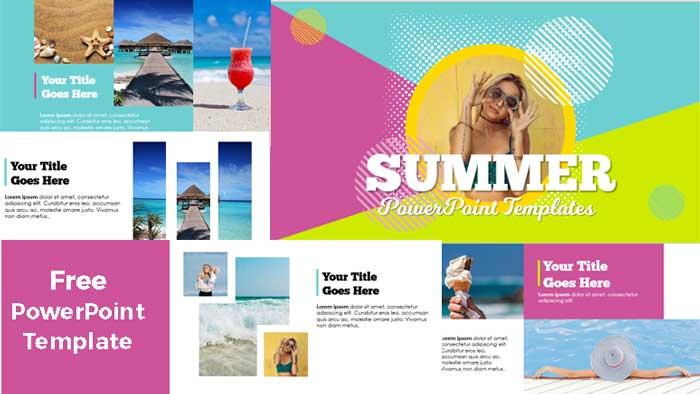 plantillas de PowerPoint gratis verano