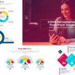 Infografías con Pasos - Plantillas de PowerPoint