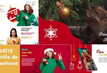 Presentación para Navidad en Plantilla de PowerPoint