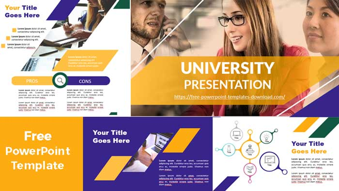 previsualización Presentacion univesitaria para plantillas de PowerPoint