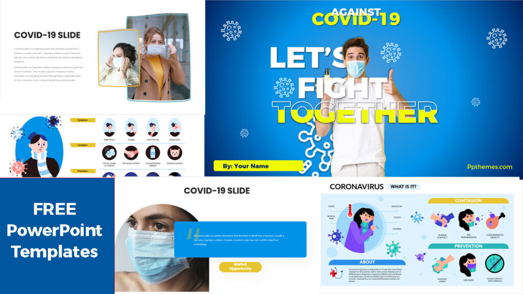 Plantilla de PowerPoint Para Presentación de Coronavirus