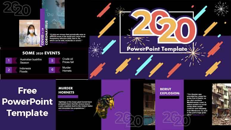sucesos del año 2020 plantillas de powerpoint gratis