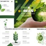 Piensa verde   Plantilla de PowerPoint