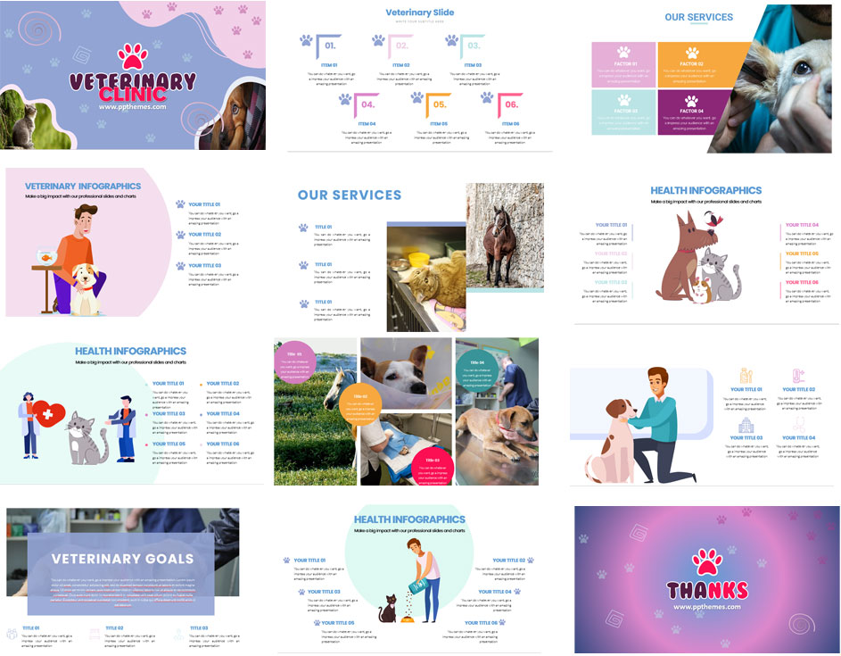 plantillas con infografias en powerpoint para veterinaria